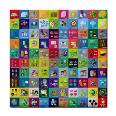 Exquisite Icons Collection Vector Tile Coasters
