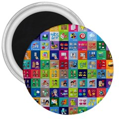 Exquisite Icons Collection Vector 3  Magnets