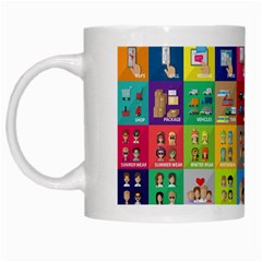 Exquisite Icons Collection Vector White Mugs