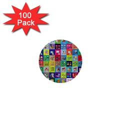 Exquisite Icons Collection Vector 1  Mini Buttons (100 Pack)