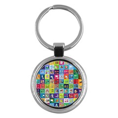 Exquisite Icons Collection Vector Key Chains (round)