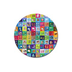 Exquisite Icons Collection Vector Magnet 3  (round)