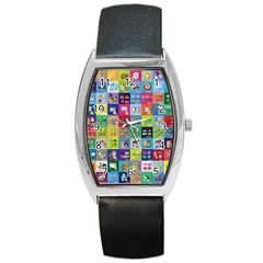 Exquisite Icons Collection Vector Barrel Style Metal Watch