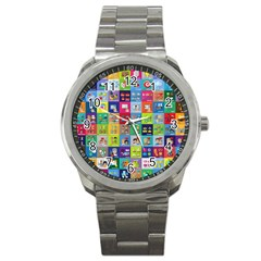 Exquisite Icons Collection Vector Sport Metal Watch