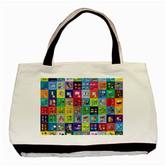 Exquisite Icons Collection Vector Basic Tote Bag