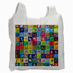 Exquisite Icons Collection Vector Recycle Bag (two Side)