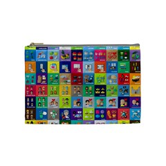 Exquisite Icons Collection Vector Cosmetic Bag (medium)