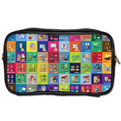 Exquisite Icons Collection Vector Toiletries Bags 2 Side