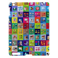 Exquisite Icons Collection Vector Apple Ipad 3/4 Hardshell Case