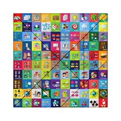 Exquisite Icons Collection Vector Acrylic Tangram Puzzle (6  X 6 )