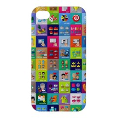 Exquisite Icons Collection Vector Apple Iphone 4/4s Premium Hardshell Case