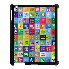 Exquisite Icons Collection Vector Apple Ipad 3/4 Case (black)