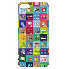 Exquisite Icons Collection Vector Apple Iphone 5 Hardshell Case With Stand