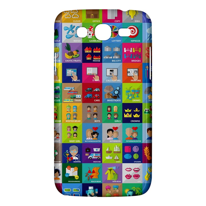 Exquisite Icons Collection Vector Samsung Galaxy Mega 5.8 I9152 Hardshell Case