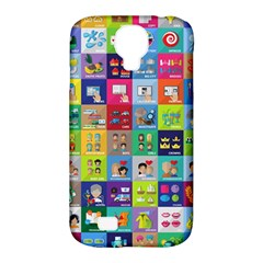Exquisite Icons Collection Vector Samsung Galaxy S4 Classic Hardshell Case (pc+silicone)
