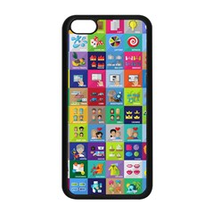 Exquisite Icons Collection Vector Apple Iphone 5c Seamless Case (black)