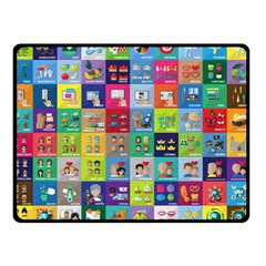 Exquisite Icons Collection Vector Double Sided Fleece Blanket (small)