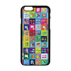 Exquisite Icons Collection Vector Apple Iphone 6/6s Black Enamel Case