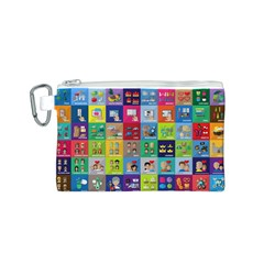 Exquisite Icons Collection Vector Canvas Cosmetic Bag (s)