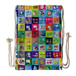Exquisite Icons Collection Vector Drawstring Bag (Large) Front