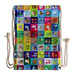 Exquisite Icons Collection Vector Drawstring Bag (Large) Back