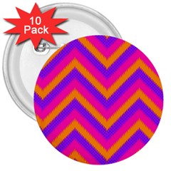 Chevron 3  Buttons (10 Pack)