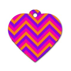Chevron Dog Tag Heart (two Sides)