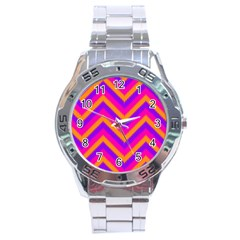 Chevron Stainless Steel Analogue Watch