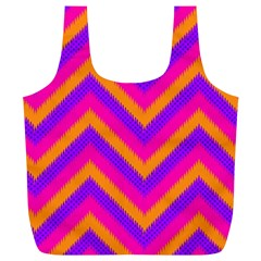 Chevron Full Print Recycle Bags (l)