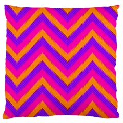 Chevron Standard Flano Cushion Case (two Sides)