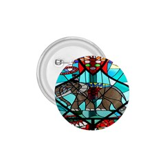 Elephant Stained Glass 1 75  Buttons