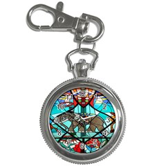 Elephant Stained Glass Key Chain Watches