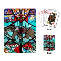 Elephant Stained Glass Playing Card