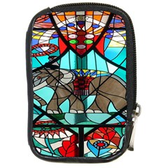 Elephant Stained Glass Compact Camera Cases