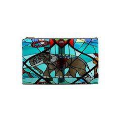 Elephant Stained Glass Cosmetic Bag (small)