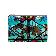 Elephant Stained Glass Cosmetic Bag (medium)