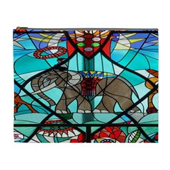 Elephant Stained Glass Cosmetic Bag (xl)