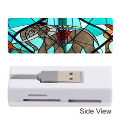 Elephant Stained Glass Memory Card Reader (stick)