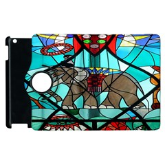 Elephant Stained Glass Apple Ipad 2 Flip 360 Case
