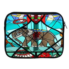 Elephant Stained Glass Apple Ipad 2/3/4 Zipper Cases