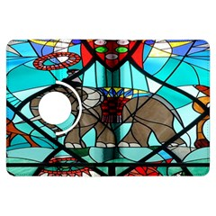 Elephant Stained Glass Kindle Fire Hdx Flip 360 Case