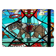 Elephant Stained Glass Samsung Galaxy Tab Pro 12 2  Flip Case