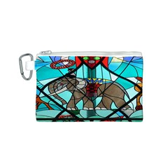 Elephant Stained Glass Canvas Cosmetic Bag (s)