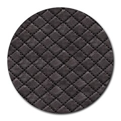 Seamless Leather Texture Pattern Round Mousepads