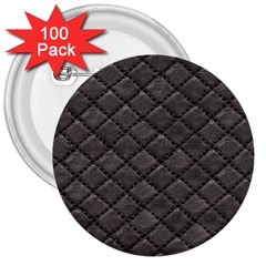 Seamless Leather Texture Pattern 3  Buttons (100 Pack)