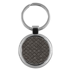 Seamless Leather Texture Pattern Key Chains (round)