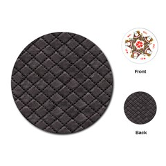 Seamless Leather Texture Pattern Playing Cards (round)
