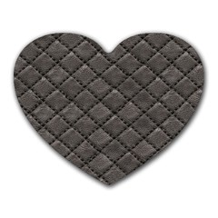 Seamless Leather Texture Pattern Heart Mousepads