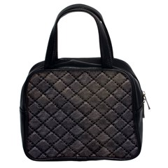 Seamless Leather Texture Pattern Classic Handbags (2 Sides)