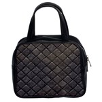 Seamless Leather Texture Pattern Classic Handbags (2 Sides) Front